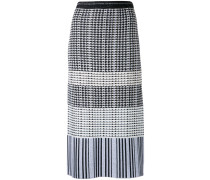 monochrome knitted pencil skirt