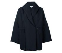 Oversized-Mantel mit doppelter Knopfleiste