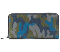 Harrison camouflage-print zip-around wallet