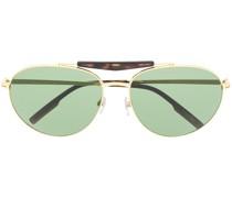 Runde Sonnenbrille mit Doppelsteg