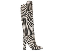 Stiefel mit Zebramuster