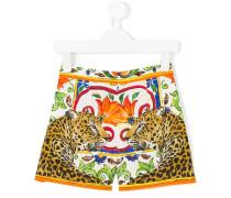 Majolica leopard print short