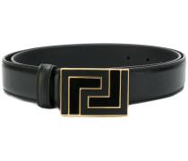 enameled buckle belt