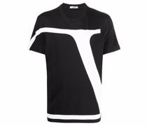 T-Shirt mit VLogo Signature-Print