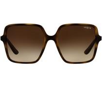 tortoiseshell oversized-frame sunglasses