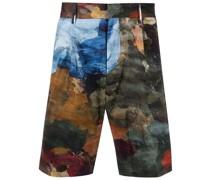 Mid-Rise-Shorts mit Malerei-Print