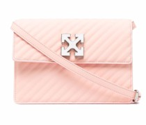 diagonal striped satchel bag