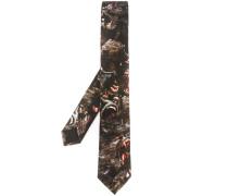 Krawatte mit Pavian-Print