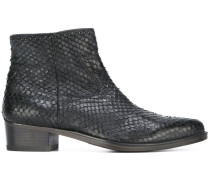 scaled ankle boots