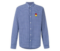 Button-Down Shirt Smiley Chest Patch