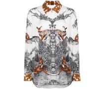 Carlota deer sketch print blouse