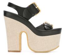 Plateau-Sandalen mit Schnallen