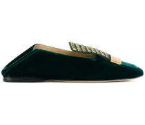 Loafer mit Steinverzierungen