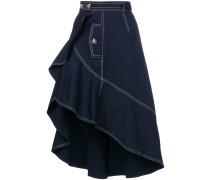 flounced canvas skirt