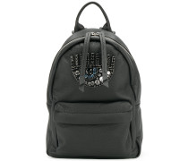 Logomania gem embellished eye small backpack