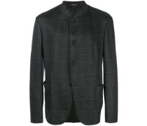 jacquard mandarin collar jacket