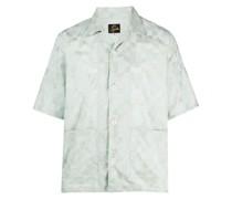 Kurzärmeliges Jacquard-Hemd