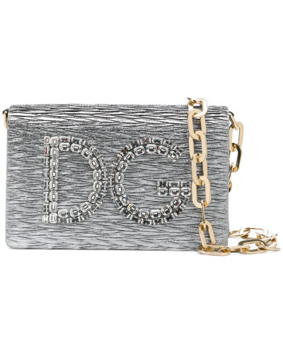 Dolce & Gabbana Damen 'DG Girls' Metallic-Schultertasche Visa-Zahlung Günstiger Preis Preiswerte Neue Große Überraschung Günstig Online Verkauf Wirklich aGN0DGv1O