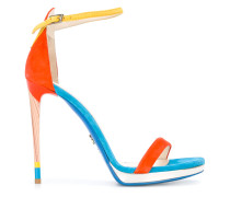 Stiletto-Sandalen in Colour-Block-Optik