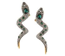 Schlangen-Ohrringe mit Kristallen