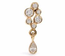 18kt Splash Gelbgoldohrring mit Diamanten
