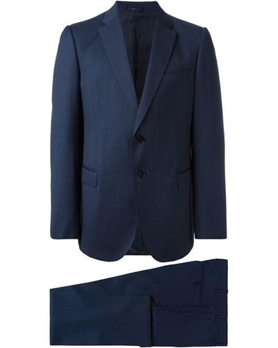 giorgio armani herren zweiteiliger und karierter anzug reduziert. Black Bedroom Furniture Sets. Home Design Ideas