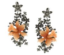 Ohrringe mit Blütenapplikation