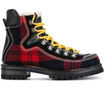 tartan mountain boots
