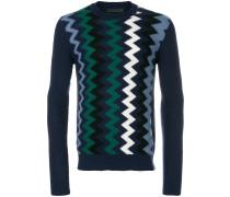 zigzag intarsia cashmere blend jumper