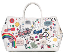 Shopper mit Sticker-Print