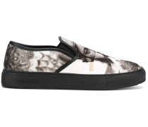 Slip-On-Sneakers mit Foto-Print