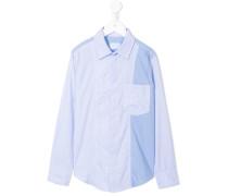 patchwork button-down shirt