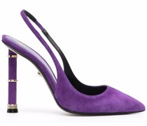 pointed-toe slingback pumps