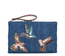 JeansClutch mit VogelPatches