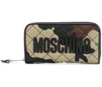 camouflage zip around wallet