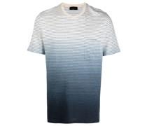 T-Shirt mit Ombré-Streifen