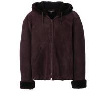 Kurzer Mantel mit Shearlin-Besatz