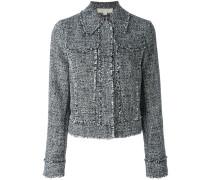 Cropped-Jacke mit ausgefransten Kanten - women
