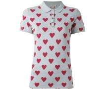Poloshirt mit Herzmuster