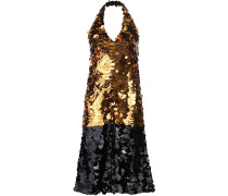 Neckholder-Kleid mit Pailletten