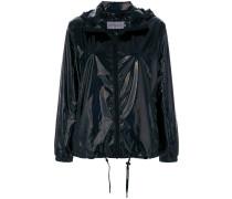 drawstring hooded coat