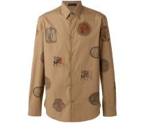 Hemd mit Wappen-Print - men - Baumwolle - 38