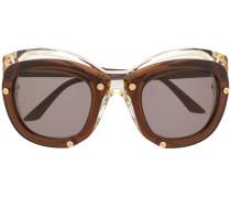'W1' Sonnenbrille im Layering-Look
