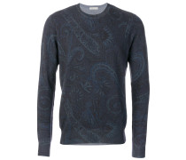 Wollpullover mit Paisley-Muster