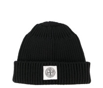 front patch ribbed beanie