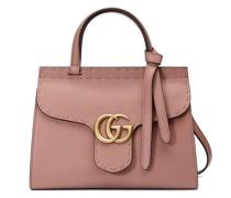 Mini altrosa GG Marmont Handtasche aus Leder