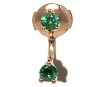 18kt yellow  Orbit emerald earrings