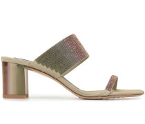 'Xina' Sandalen mit Kristallen, 60mm