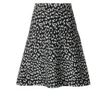 flared patterned skirt