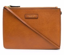triple-zip leather crossbody bag